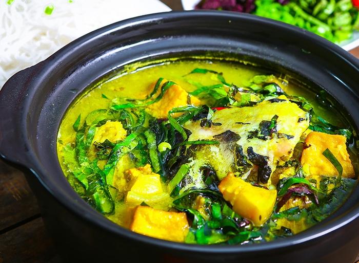 Cá lóc đồng om chuối đậu